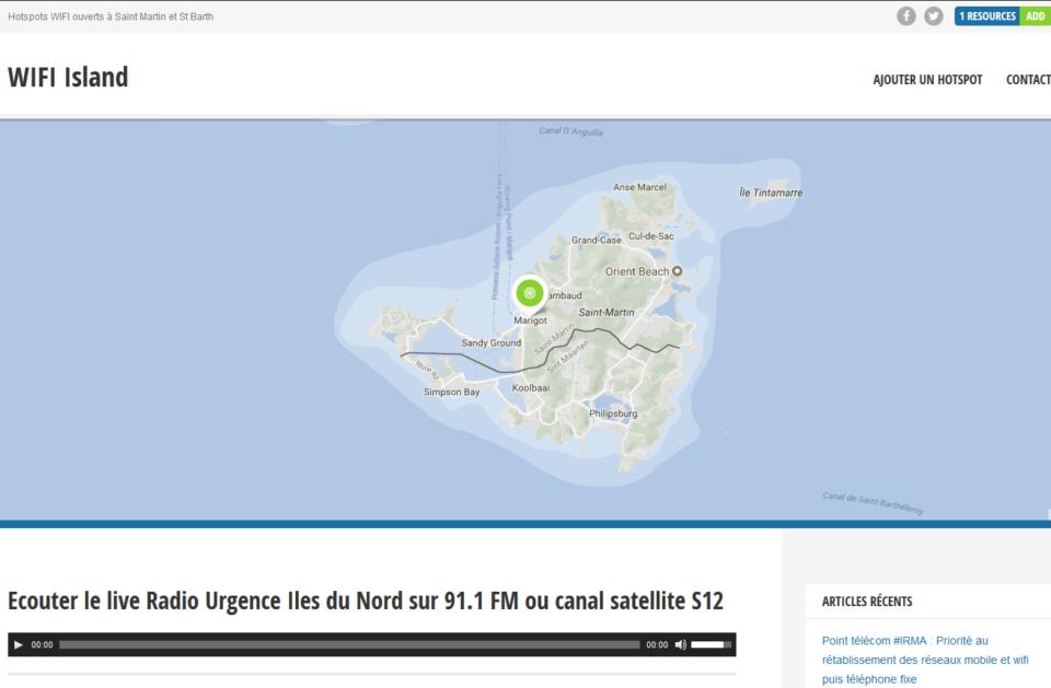 carte hotspot sxm wifi island